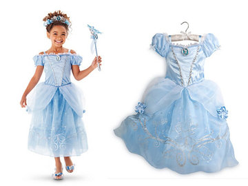 Assepoester prinsessen jurk